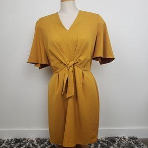 BLACK TAPE | Yellow Medium Kimono Sleeve Dress